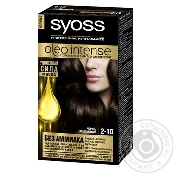 Syoss Oleo Intense ammonia free 2-10 black chestnut hair due