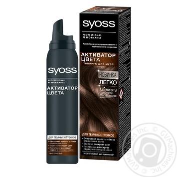 Активатор кольору Syoss Тонуючий мус для темних відтінків 75мл - купити, ціни на Novus - фото 2