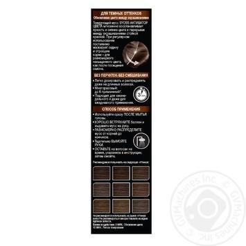 Активатор кольору Syoss Тонуючий мус для темних відтінків 75мл - купити, ціни на Novus - фото 3