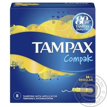 Тампоны Tampax Compak Regular с аппликатором 8 шт - купить, цены на Novus - фото 2