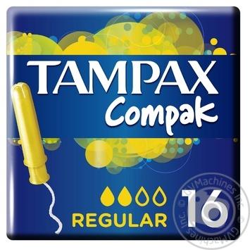Тампоны Tampax Compak Regular с апликатором 16шт