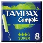 Tampax Compak Super Tampons with applicator 8pcs