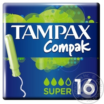 Tampax Compak Super Economy Tampons 16pcs - buy, prices for MegaMarket - image 1