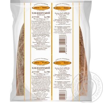 Хлеб КиевХлеб Белорусский подовый половинка 350г - купить, цены на Novus - фото 2