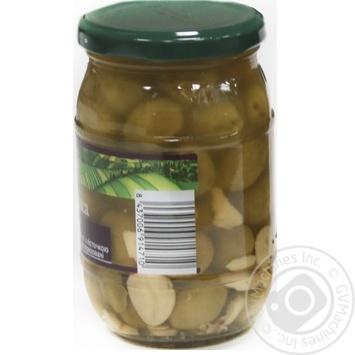 Оливки зелені Hojiblanca з/к з часником консервовані пастеризовані Feudo verde 360г - купить, цены на Novus - фото 2