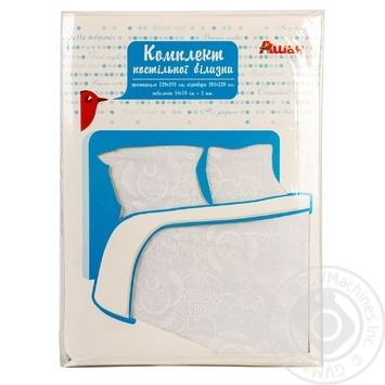 Комплект Ашан Евро постельного белья белый - купить, цены на Ашан - фото 1