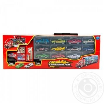 Іграшковий набір One two fun Транспорт для перевезення автомобілів 12шт