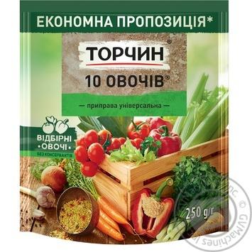 Приправа ТОРЧИН® 10 Овощей универсальная 250г - купить, цены на МегаМаркет - фото 1