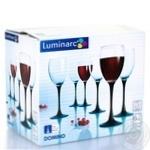 Набір бокалів для вина Luminarc ОСЗ Домино 6шт 250мл