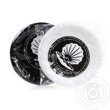 Тарелка Унипак пластиковая круглая черная 24см 6шт - купить, цены на Novus - фото 1