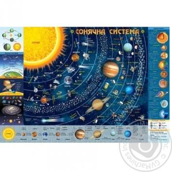 Карта солнечной системы детская - купить, цены на Ашан - фото 1
