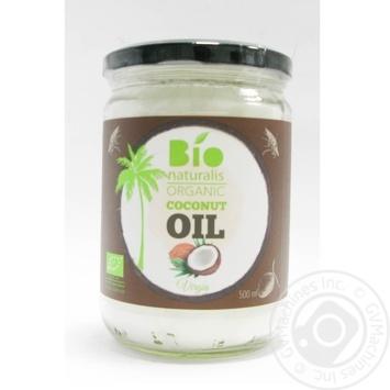 Олія кокосова нерафінована органічна Біонатураліс 460мл