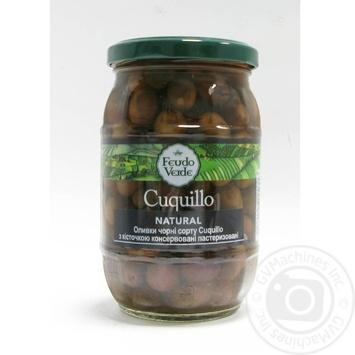 Оливки чорні Cuquillo з/к консервовані пастеризовані Feudo verde 360г