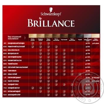 Brillance 811 Hair dye Scandinavian blond 142,5ml - buy, prices for Novus - image 5