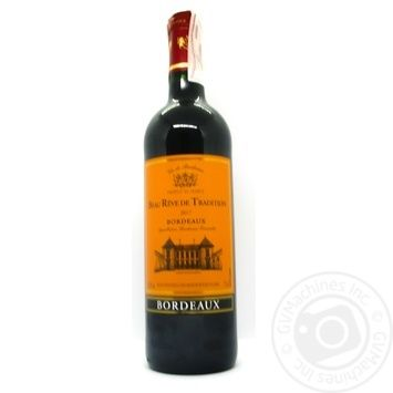 Вино Beau Reve de Tradition Rouge Sec Bordeaux красное сухое 12.5% 0,75л