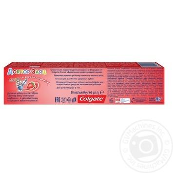 Детская зубная паста Colgate Доктор Заяц со вкусом клубники 50мл - купить, цены на Varus - фото 4