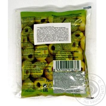 Оливки зелені б/к консервовані пастеризовані Feudo verde 170г - купить, цены на Novus - фото 2