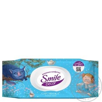Салфетки влажные Smile Decor с клапаном в ассортименте 60шт - купить, цены на МегаМаркет - фото 3