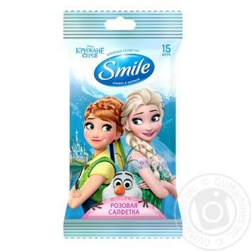 Салфетки влажные Smile Frozen 15шт - купить, цены на Novus - фото 3