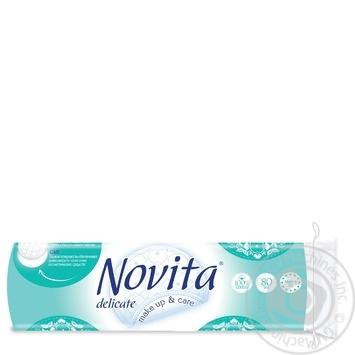 Диски ватные Novita Delicate косметические 80шт - купить, цены на Фуршет - фото 2