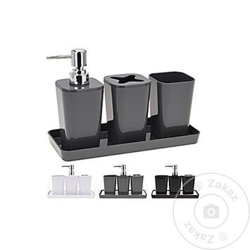 Набор аксессуаров Bathroom Solutions для ванной комнаты черный