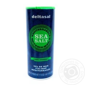 Соль морская Deltasal Гурмэ йодированная мелкого помола 500г