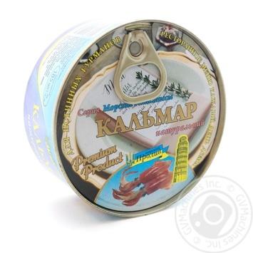 Кальмар Морской Пролив Натуральний 185г - купити, ціни на Novus - фото 1