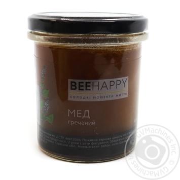 Мед BeeHappy гречневый 400г - купить, цены на Novus - фото 1