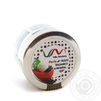 Перлини чорні з бальзамічного оцту пастеризовані Villa Modena скло 50мл - купить, цены на Novus - фото 1