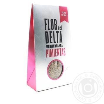 Cоль Flor del Delta Гурме среднеземноморская с перцем 125г - купить, цены на Novus - фото 1