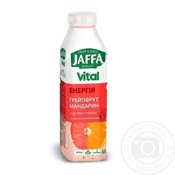 Напиток соковый Jaffa Vital Энергия Грейпфрут-Мандарин с экстрактом гуараны 0,5л - купить, цены на Фуршет - фото 1