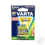 Акумулятор Varta ACCU AAA 1000mAh BLI 2 (Ready 2 Use)