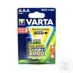 Аккумулятор Varta Recharge Accu AAA 2000mAh 2шт
