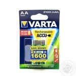 Аккумулятор Varta ACCU AA 2100mAh BLI 2 (Ready 2 Use)