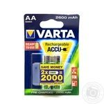 Акумулятор Varta ACCU AA 2600mAh BLI 2 (Ready 2 Use)
