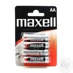 Батарейка Сольова Maxell AA/R6 4шт/уп blister