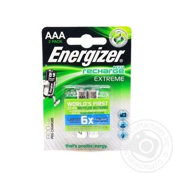 Акумулятор Energizer Rech Extreme AAA 800 FSB 2шт - купить, цены на Novus - фото 1