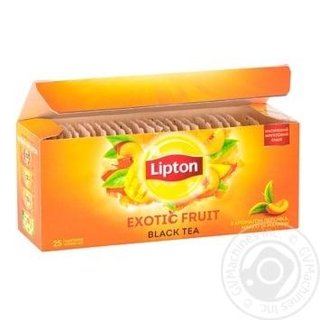 Чай черный Lipton Exotic Fruit 25*1,8г - купить, цены на Novus - фото 2