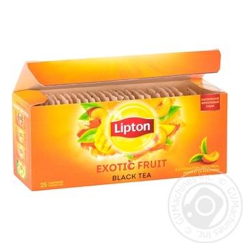 Tea Lipton Exotic raspberry black packed 25pcs 45g - buy, prices for Novus - image 2