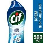 Крем для чищення Cif  Ultra White з відбілюючим ефектом 500мл - купити, ціни на Novus - фото 3