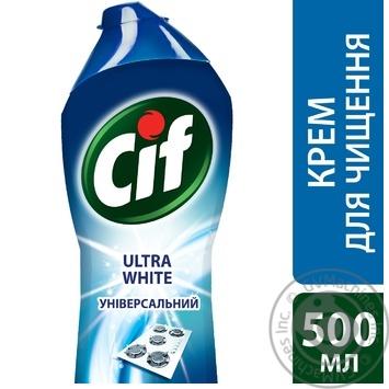 Крем для чистки Cif Ultra White c отбеливающим эффектом 500мл - купить, цены на Novus - фото 3