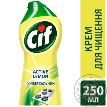 Чистящий крем Cif Active lemon Универсальный 250мл - купить, цены на МегаМаркет - фото 3