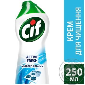 Чистящий крем Cif Active fresh Универсальный 250мл - купить, цены на Novus - фото 2