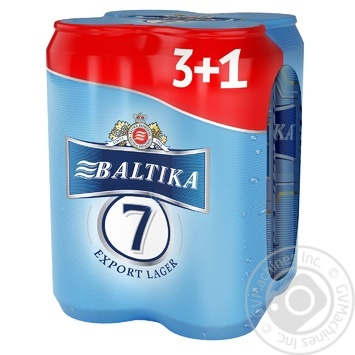 Pasteurized lager Baltica №7 Premium can 5.4%alc 4х500ml - buy, prices for Furshet - image 1