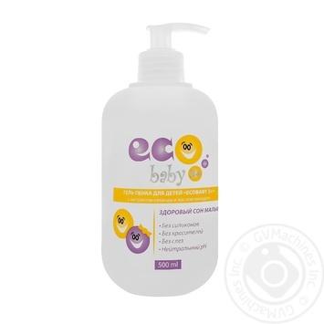 Гель-пенка EcoBabyс для детей 3+ экстрактом лаванды и маслом миндаля 500мл - купить, цены на Фуршет - фото 1
