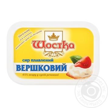 Сир Шостка Вершковий плавлений 45% 180г