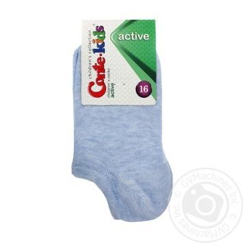 Носки Conte Kids Active детские ультракороткие светло-голубые размер 16