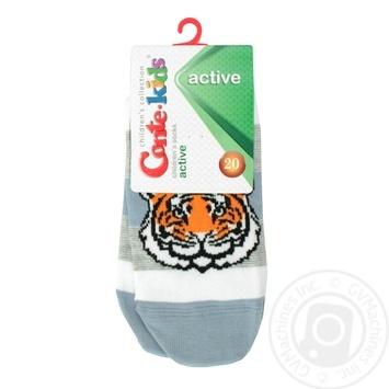 Носки Conte Kids Active детские ультракороткие светлый джинс 20р