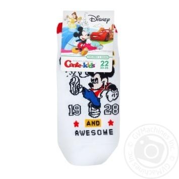 Носки Conte-kids Disney детские ультракороткие белые 22р