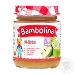 Puree Bambolina apple for children from 4 months 100g